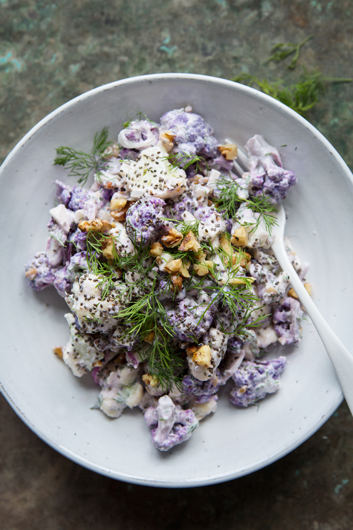 purple cauliflower salad