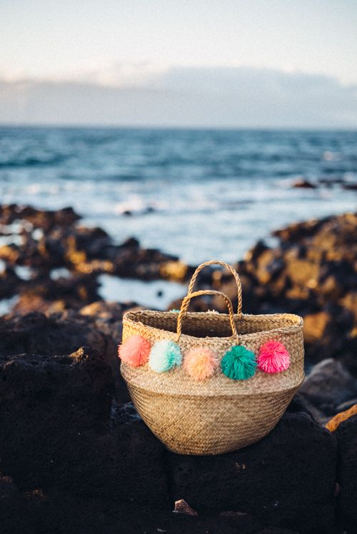 Beach bag pompom basket Julia Engel