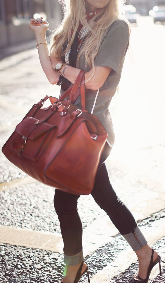 Brown weekender bag 5inchandup