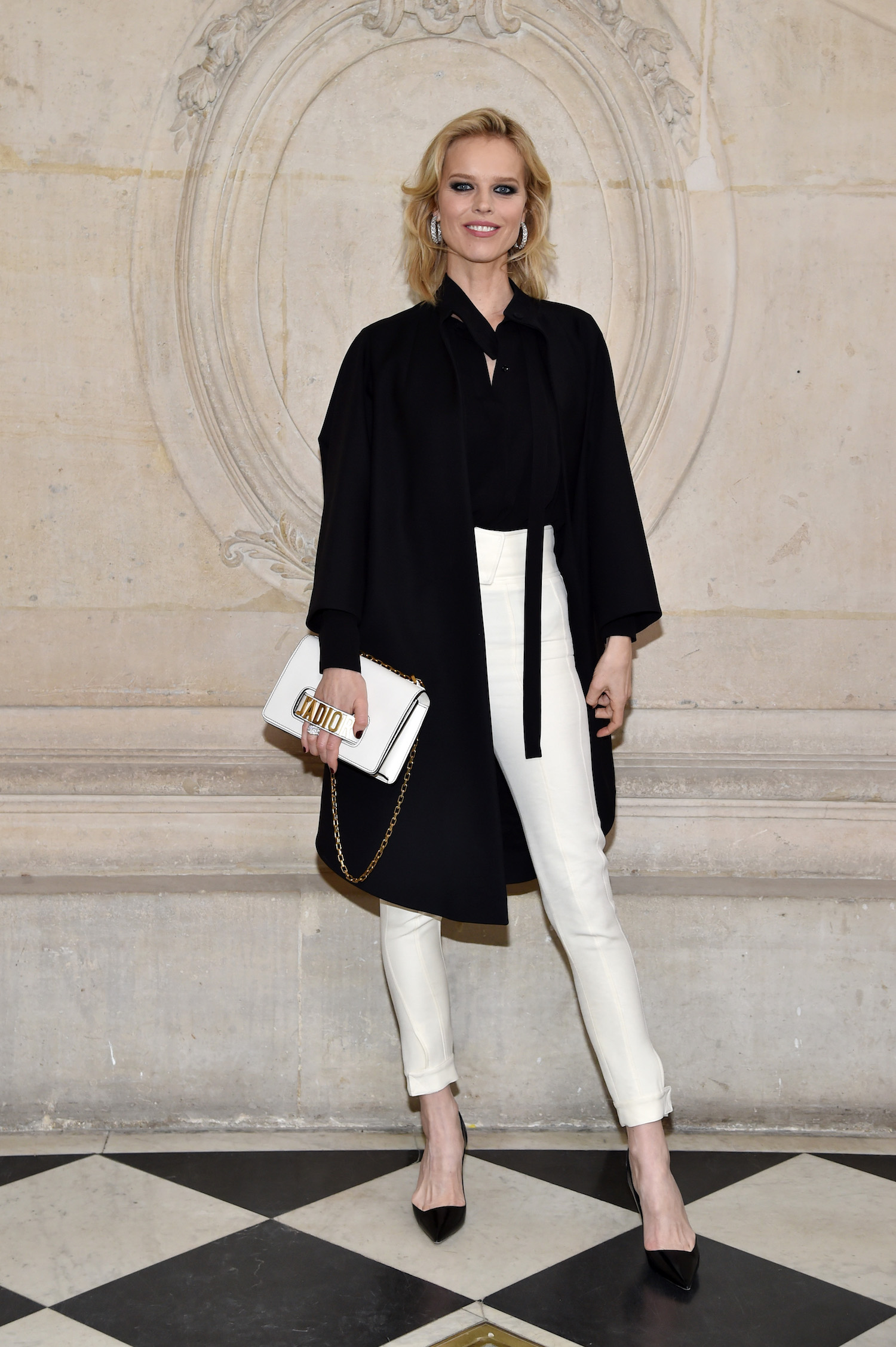PARIS, FRANCE - JANUARY 23: Eva Herzigova attends the Christian Dior Haute Couture Spring Summer 2017 show as part of Paris Fashion Week on January 23, 2017 in Paris, France. (Photo by Pascal Le Segretain/Getty Images) *** Local Caption *** Eva Herzigova