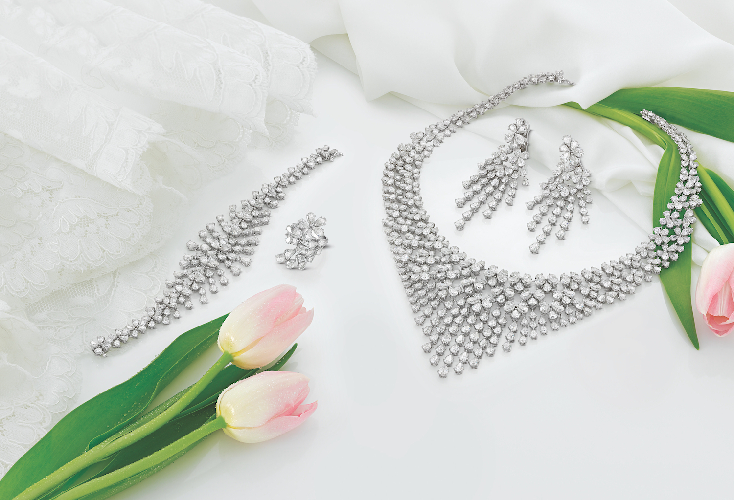 La Marquise diamond jewelry set