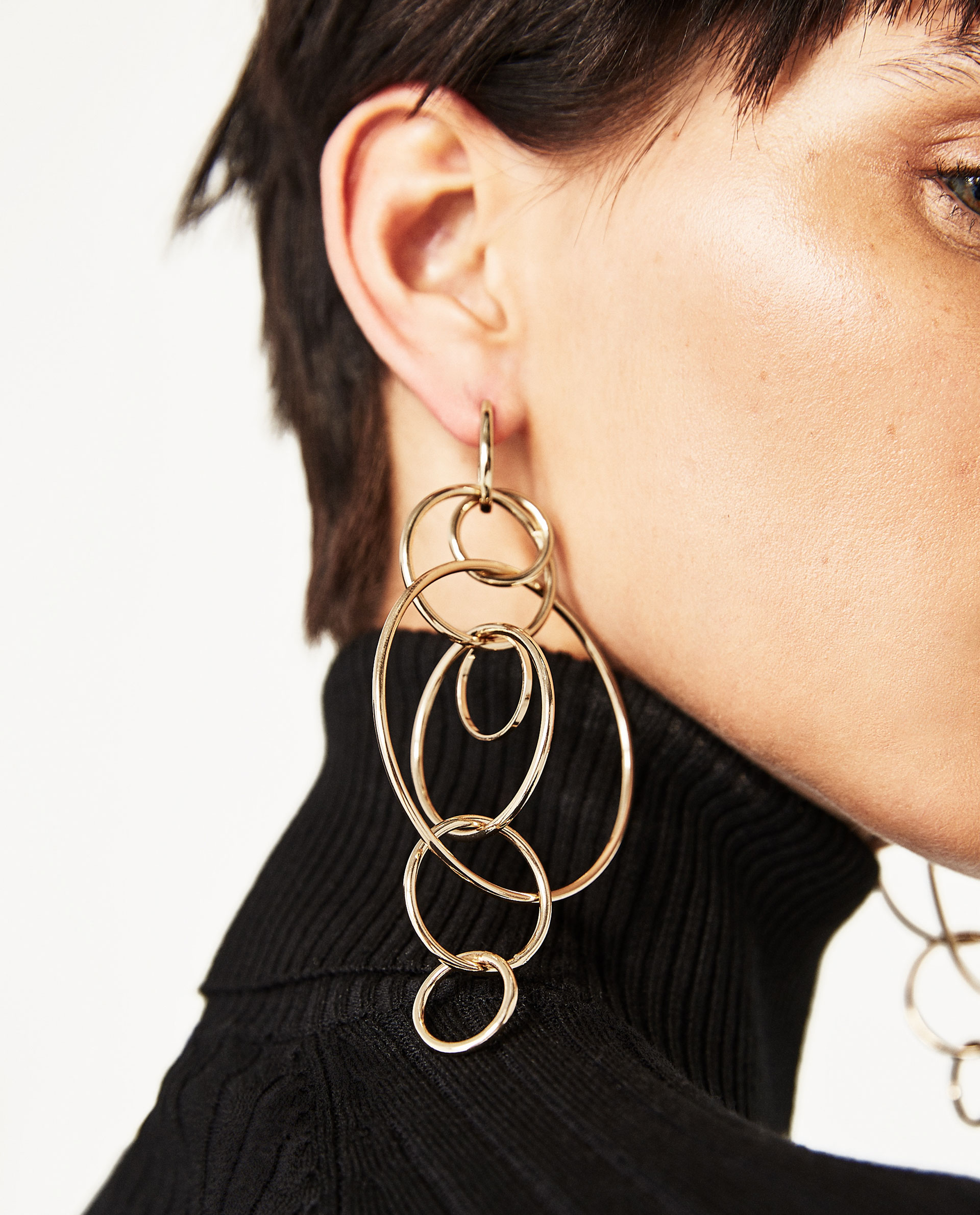 Zara multi gold hoop earrings