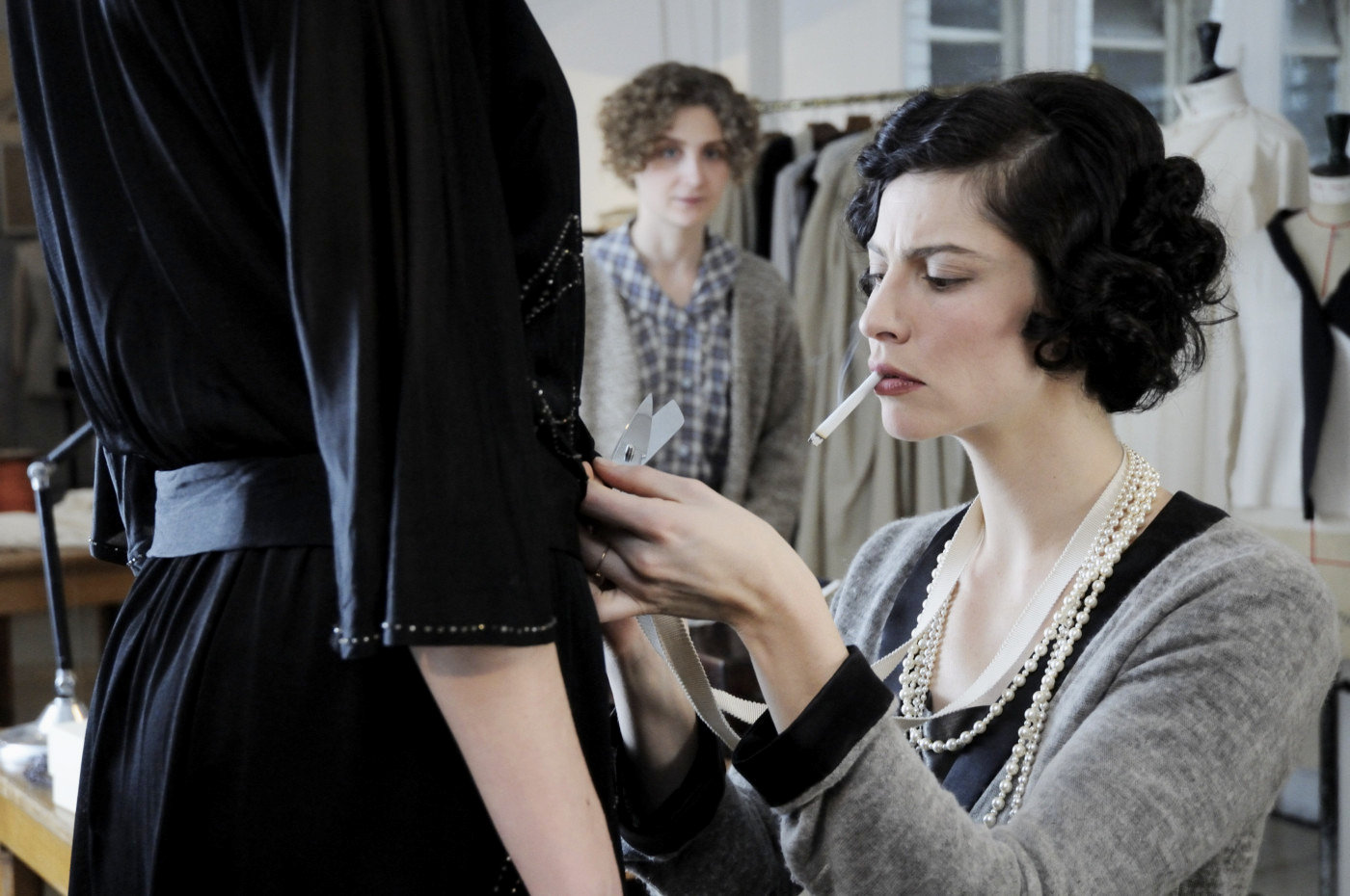 coco before chanel movie scene tailoring cigarette
