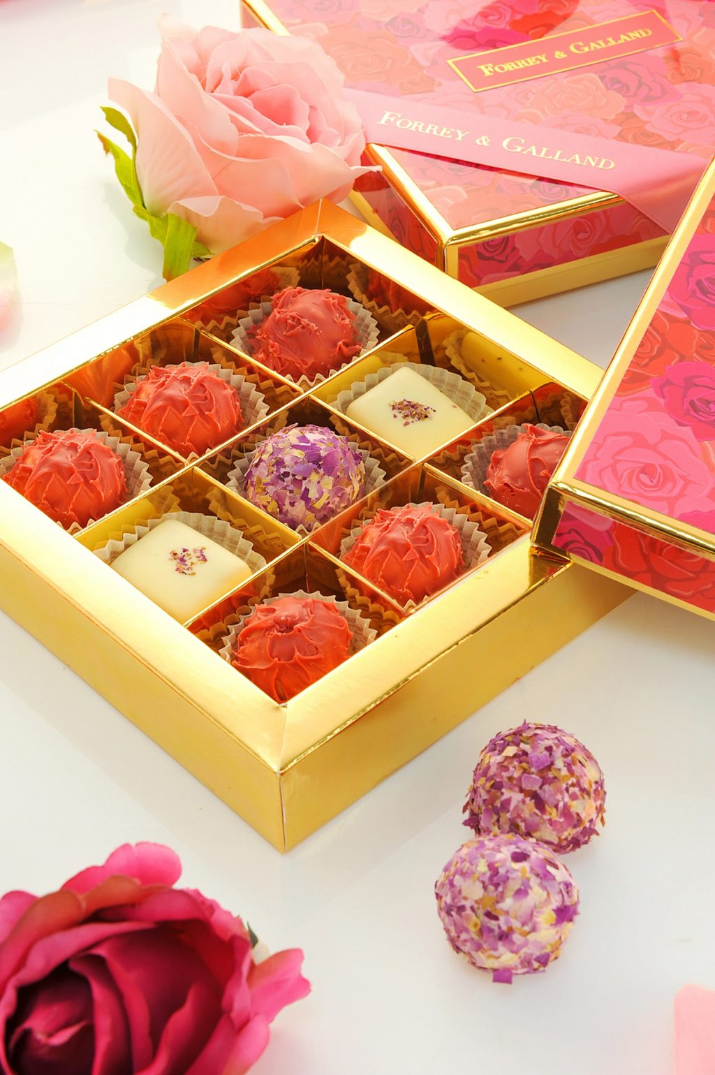 forrey and galland chocolates roses gift box