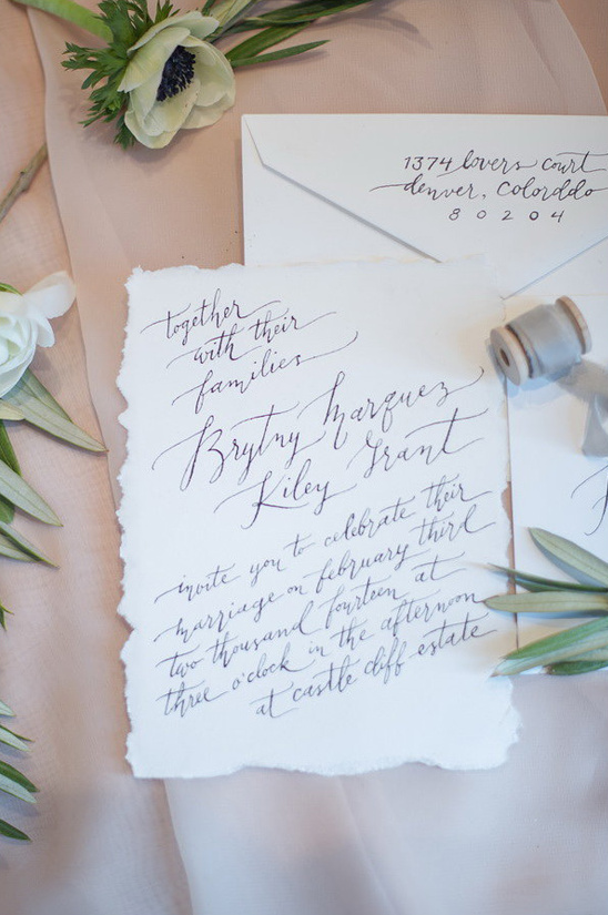 hand written wedding card