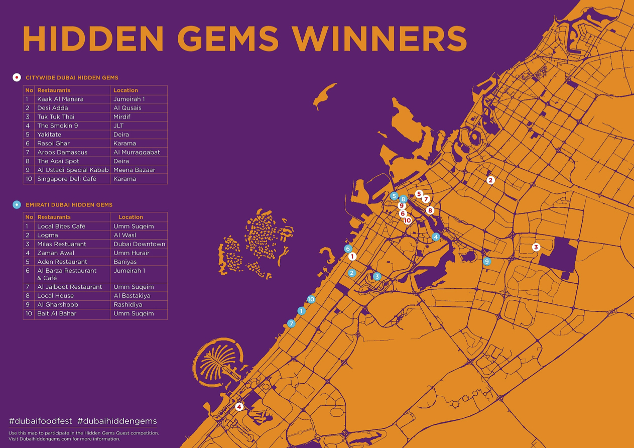 dubai dff hidden gems map