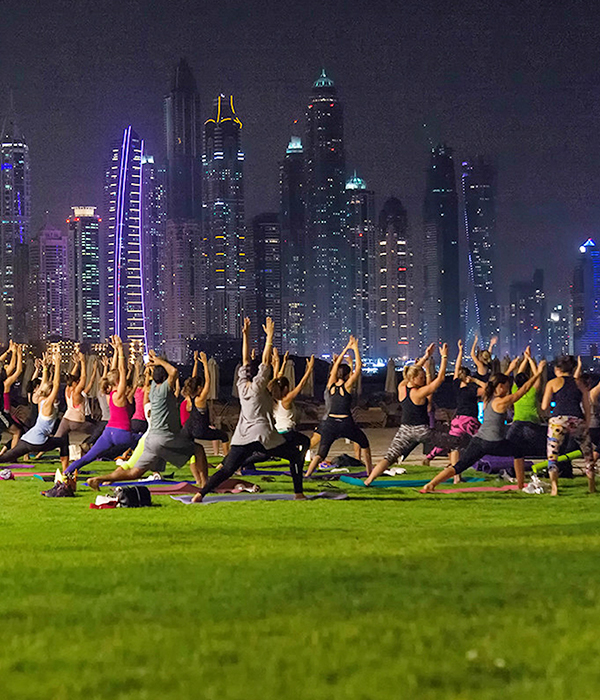 Full Moon Yoga @ Fairmont The Palm