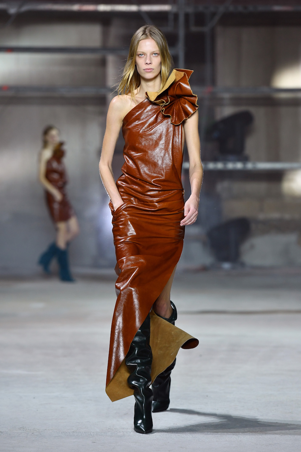 Shine, Shine, Shine: Paris Fashion Week Gets Glossy With Leather