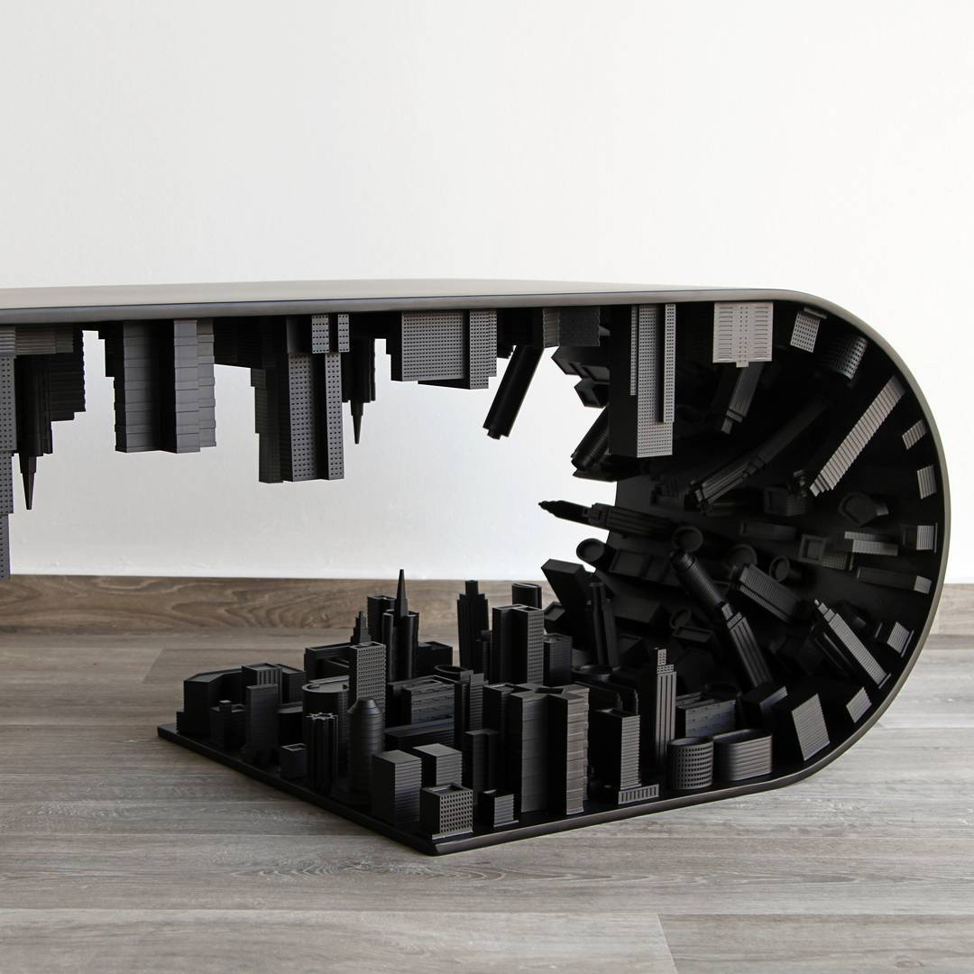 The Wave City by Stelios Mousarris coffee table