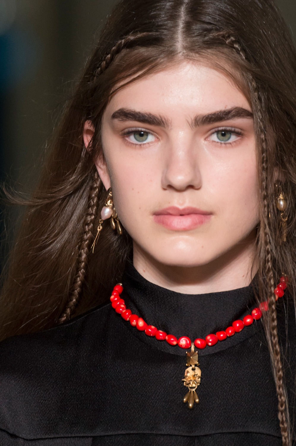 Valentino fw17 red beaded necklace