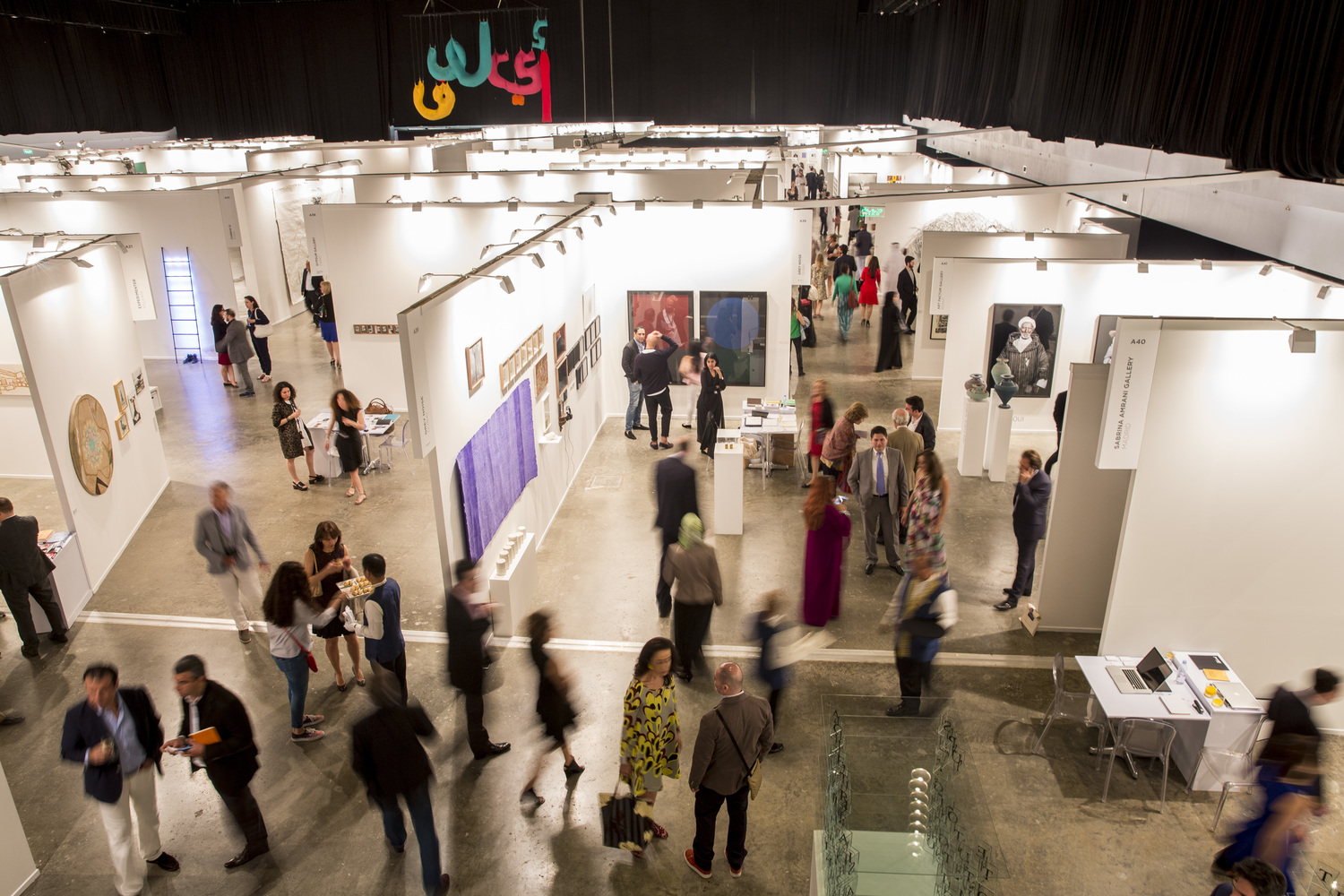 aerial view of art dubai galleries
