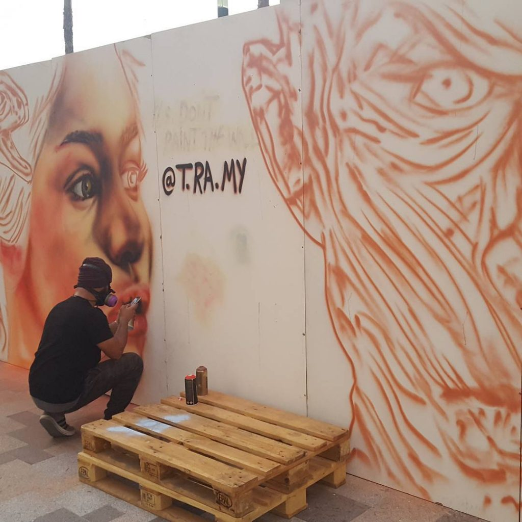 live graffiti street nights dubai food festival