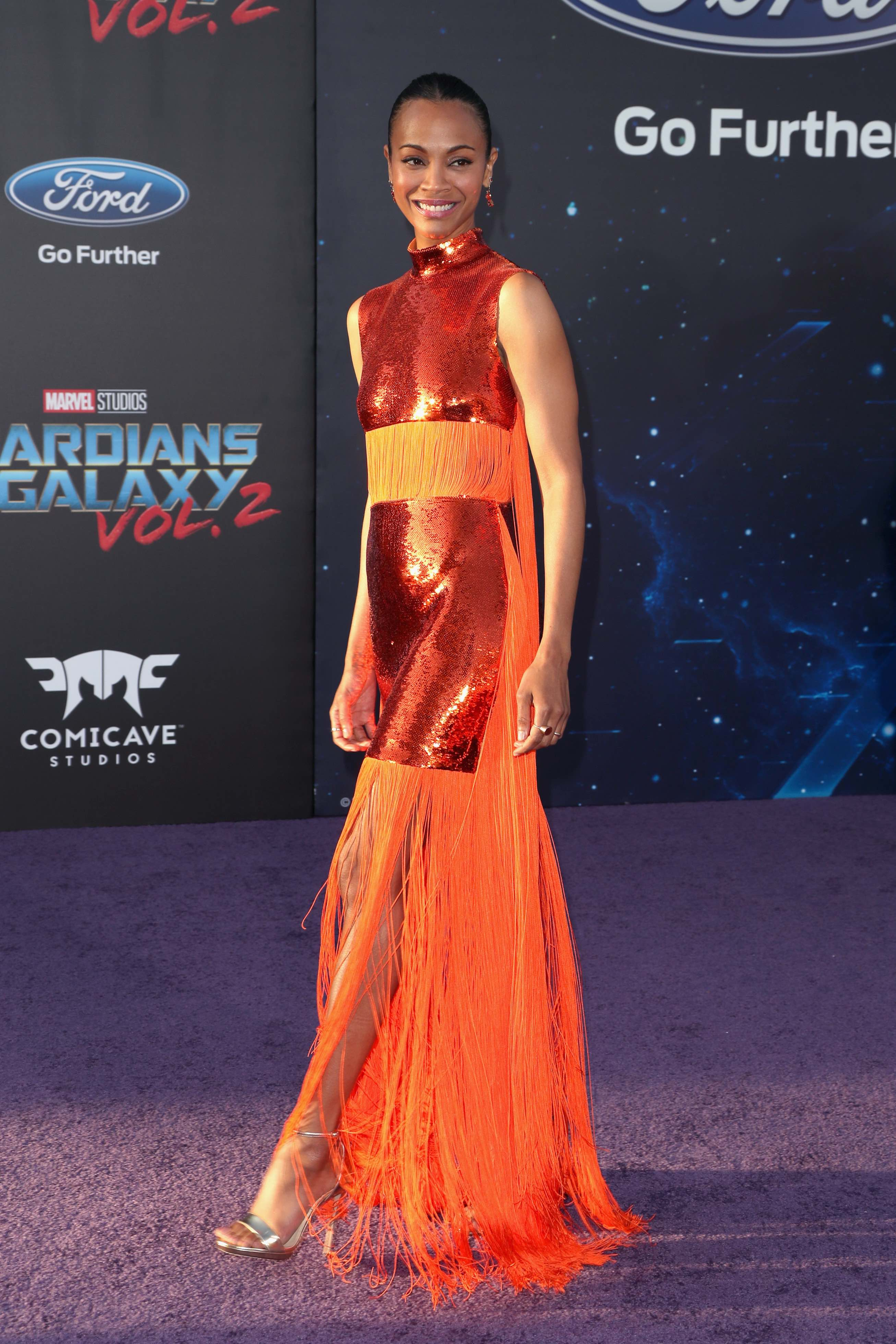 Celebrity Best Dressed Red Carpet Zoe Saldana