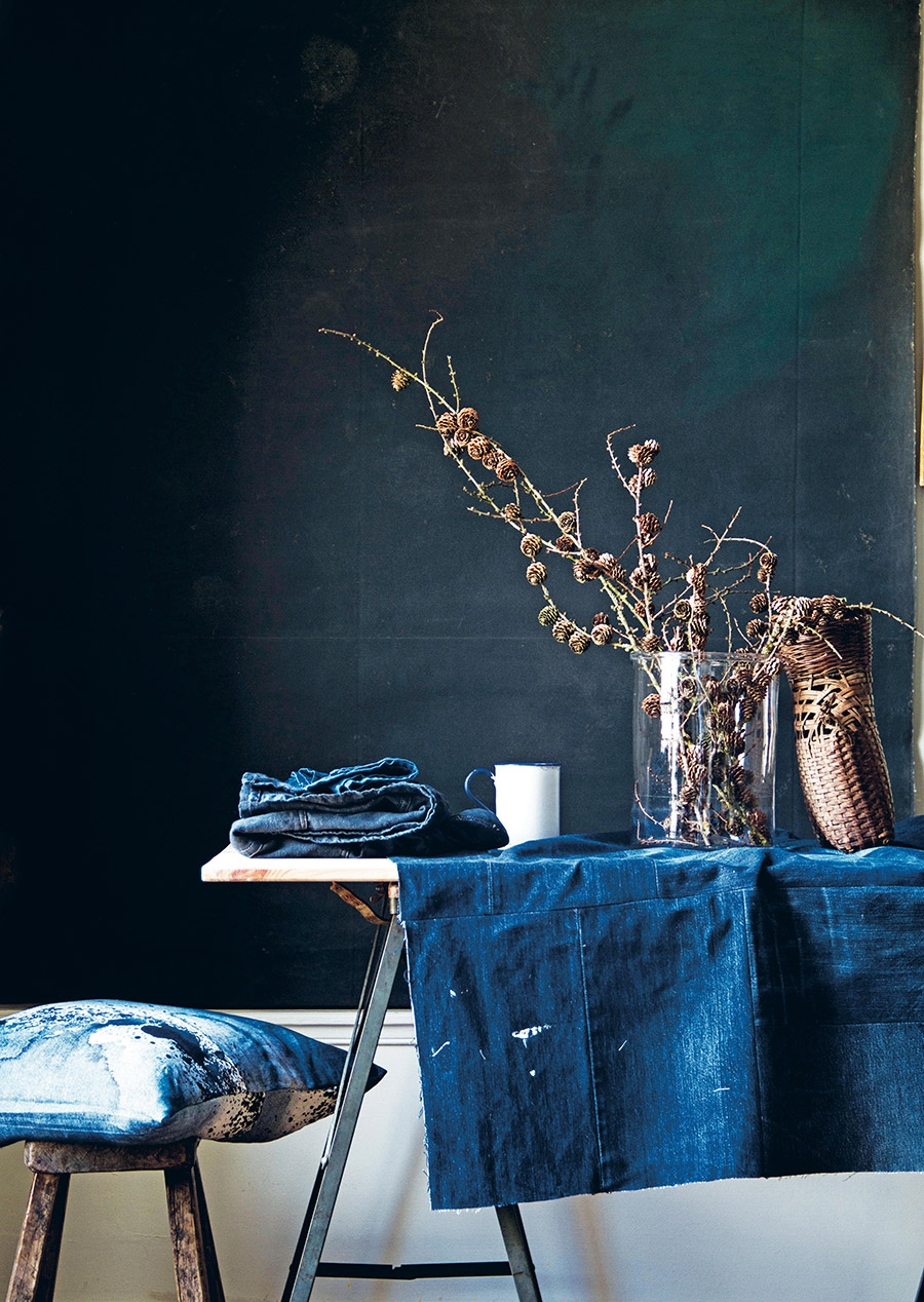 Denim interior styling
