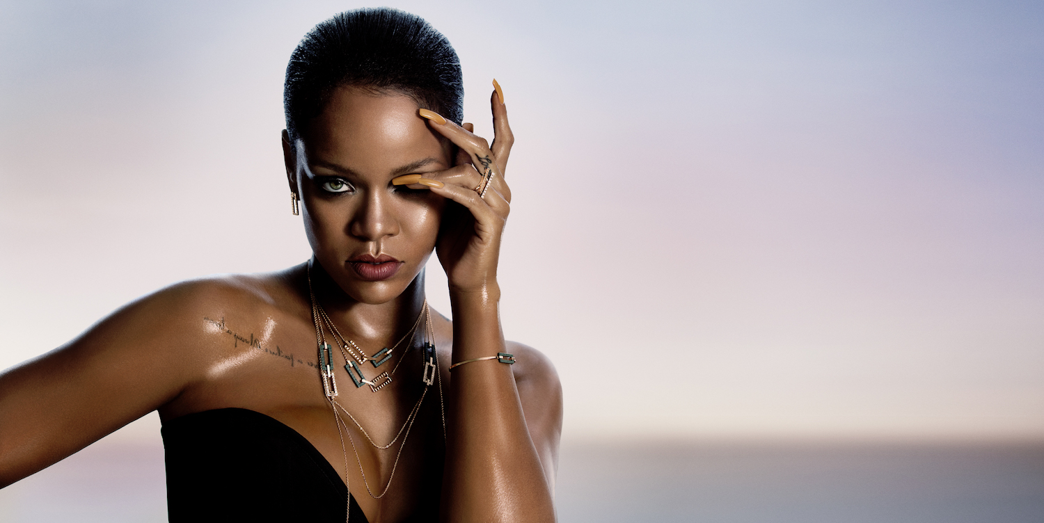 Rihanna wearing the Rihanna x Chopard collection