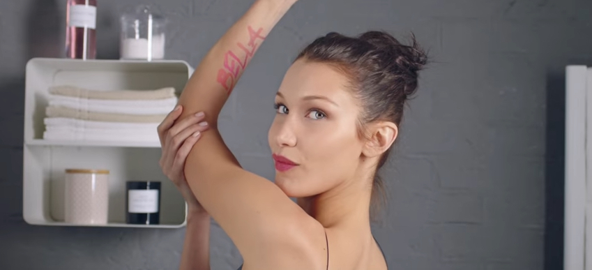 Watch Bella Hadid Get Beautified With a Brand New Tattoo