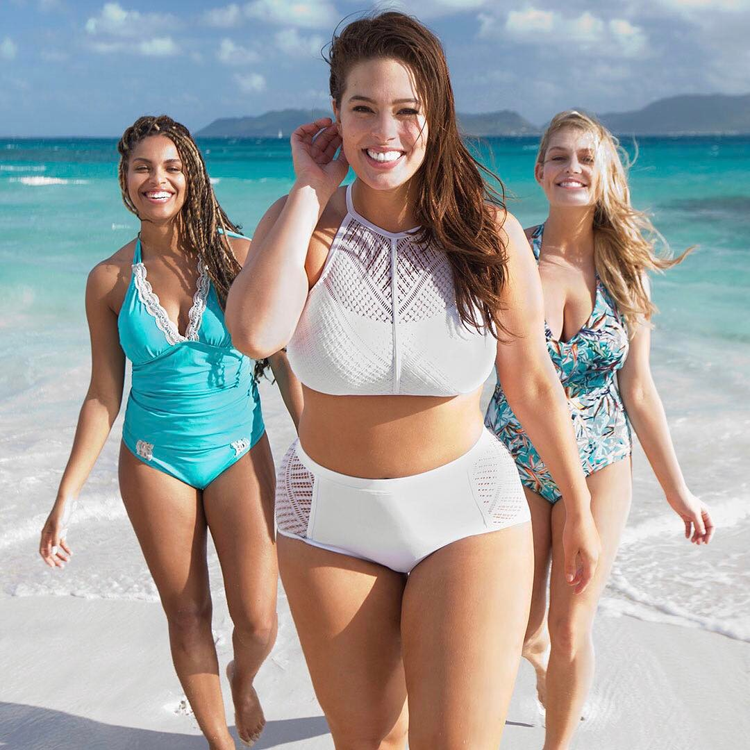 Ashley Graham wearing swimsuits for all