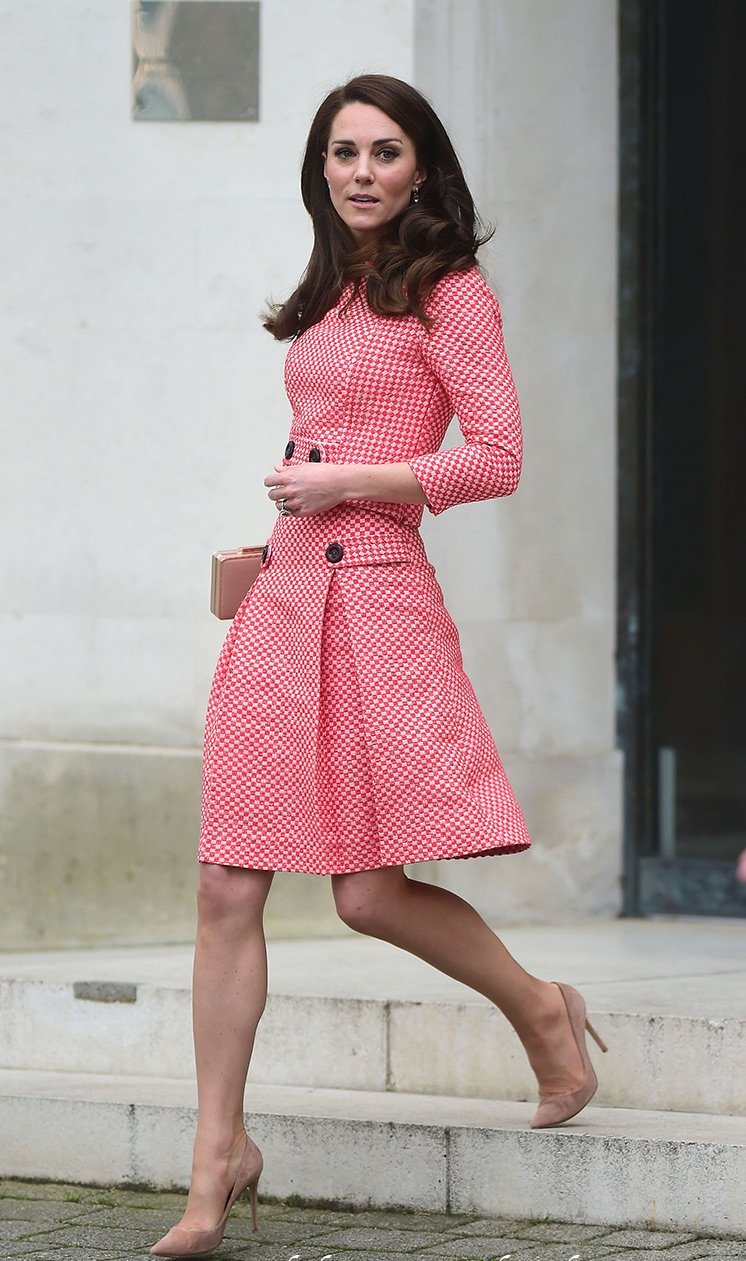 Kate Middleton fit and flare gingham dress