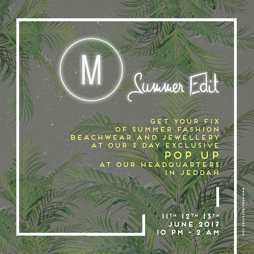The M Project pop-up invite summer 2017
