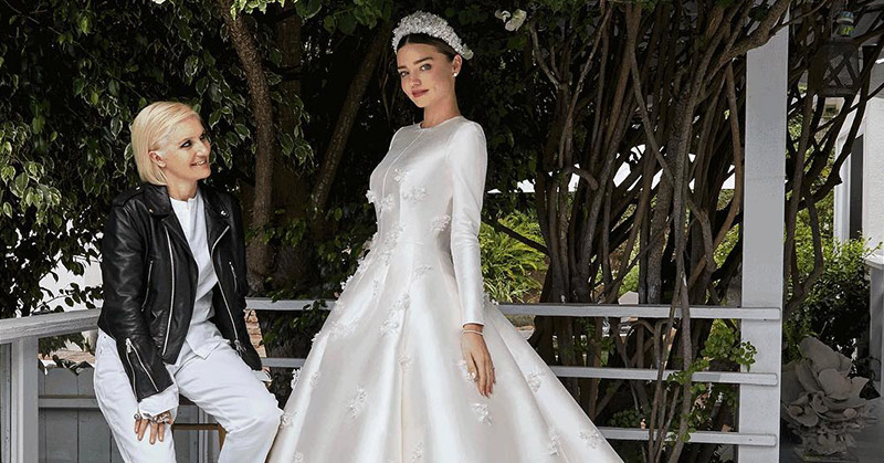 Watch the Making of Miranda Kerr's Beautiful Dior Wedding Gown
