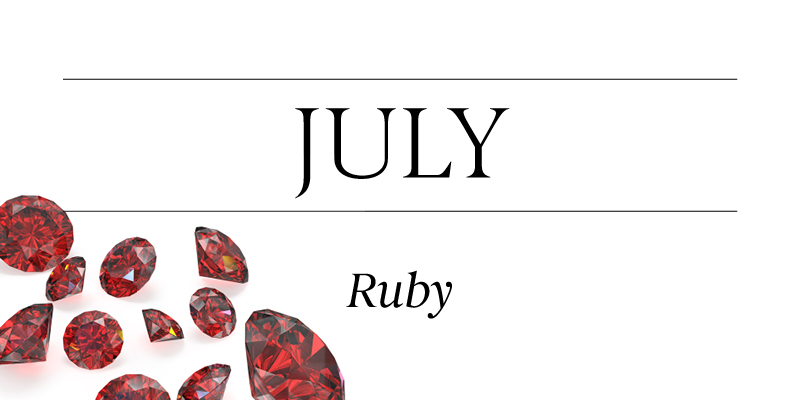 Birthstone Beauty July Ruby