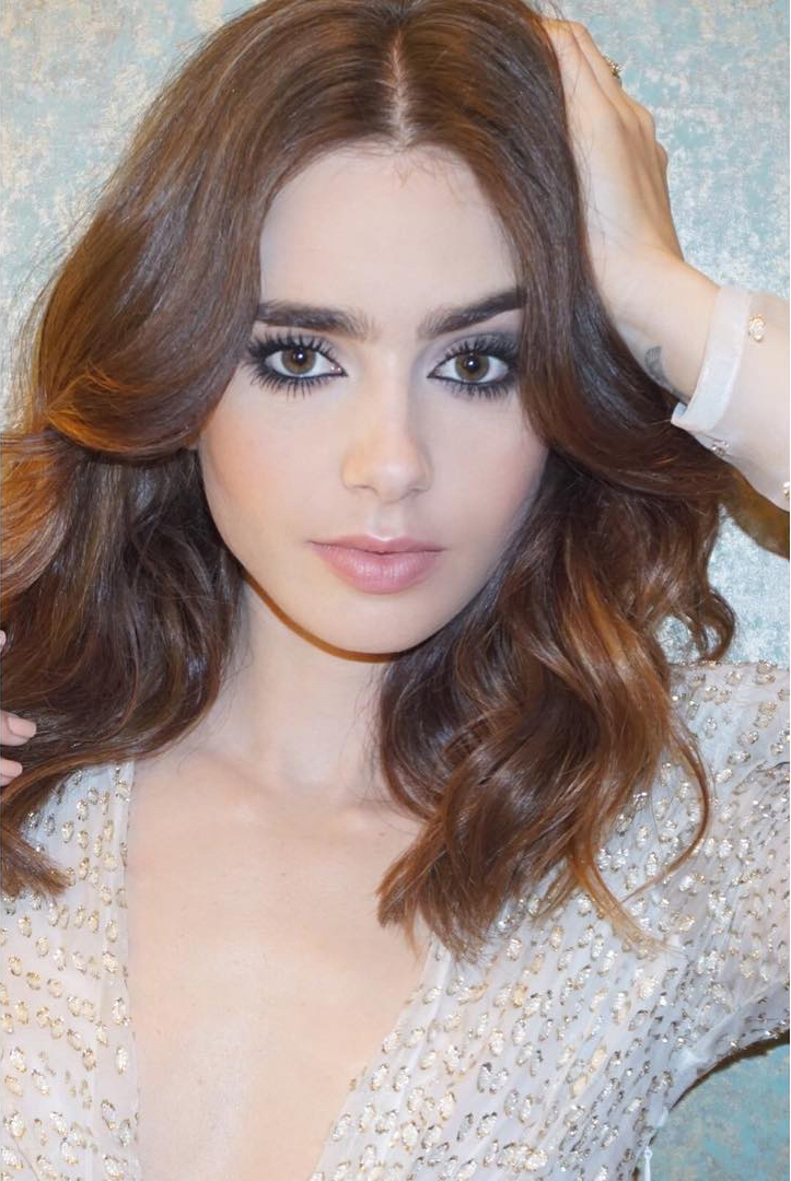 Celebrity Beauty Makeup Lily Collins - @gregoryrussellhair