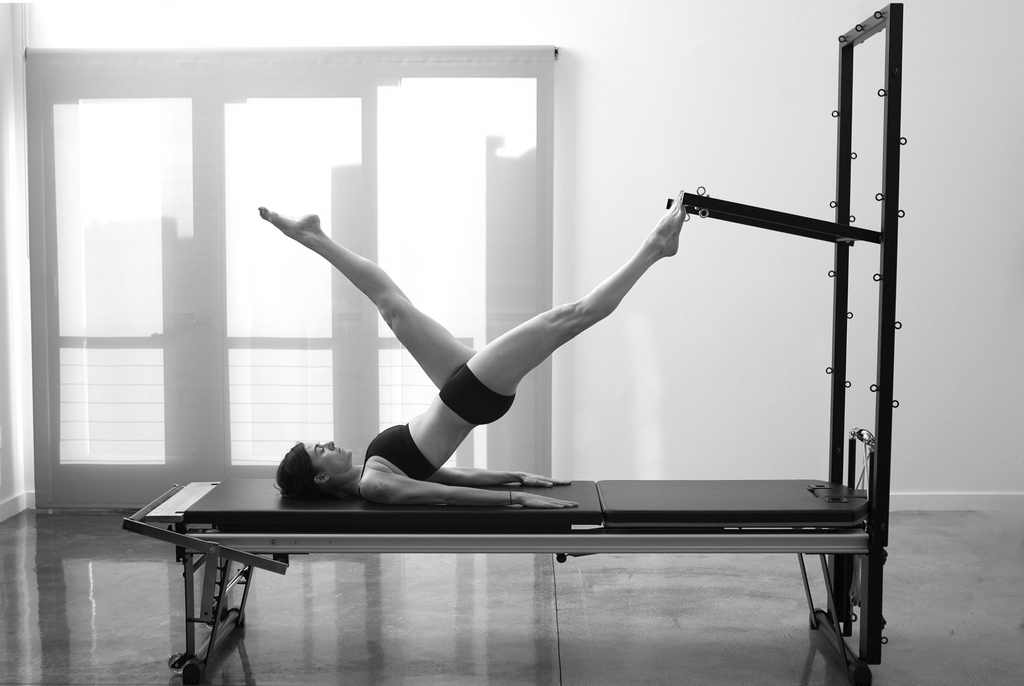 Pilates black and white photo