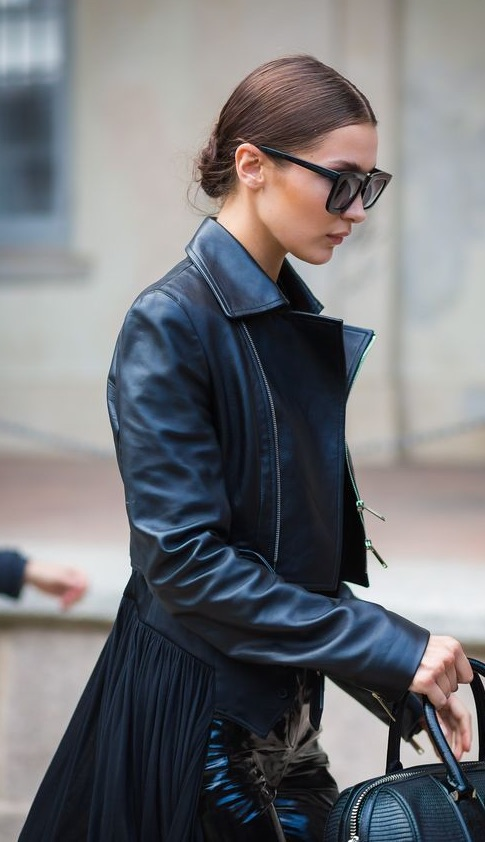 Bella Hadid all-black street style ensemble - foolproof outfit formulas