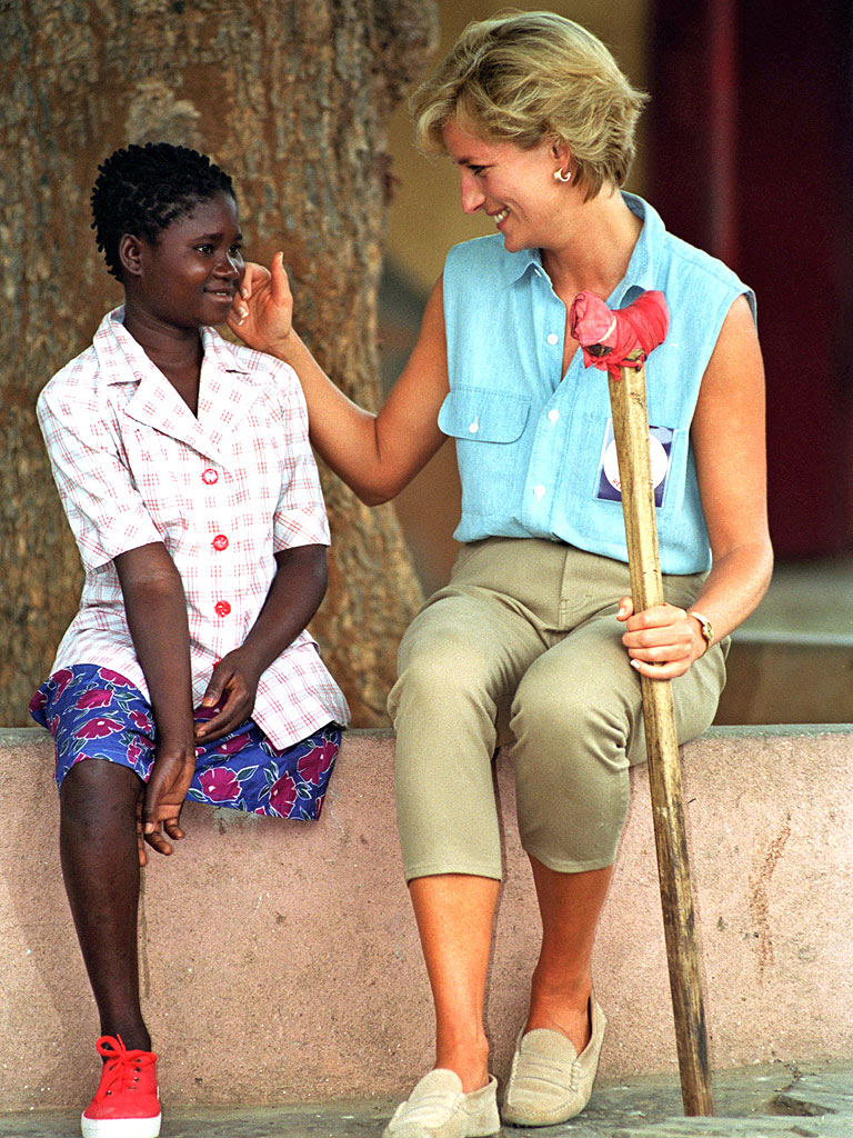 princess diana with amputee