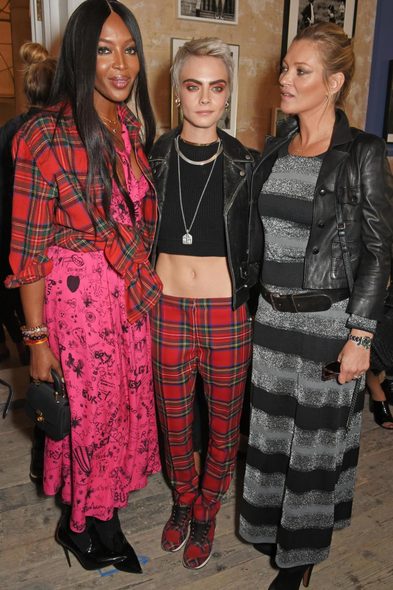 Burberry Cara Delevingne Kate Moss Naomi Campbell LFW