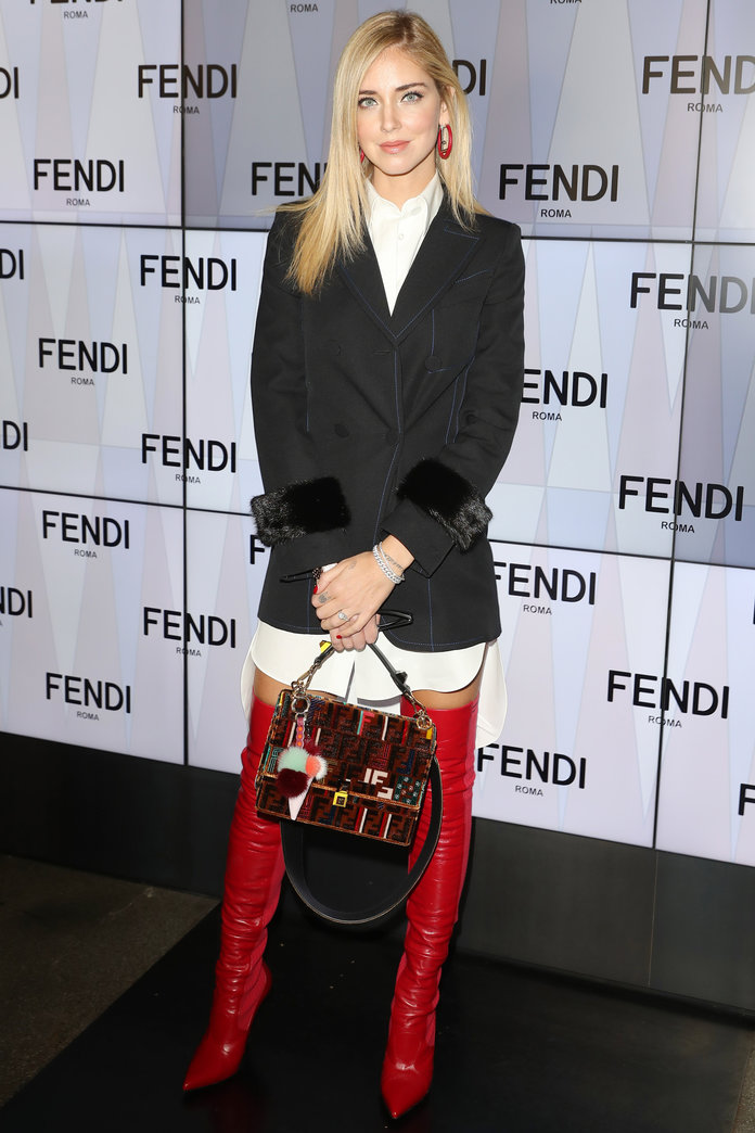 Chiara Ferragni at Fendi SS18