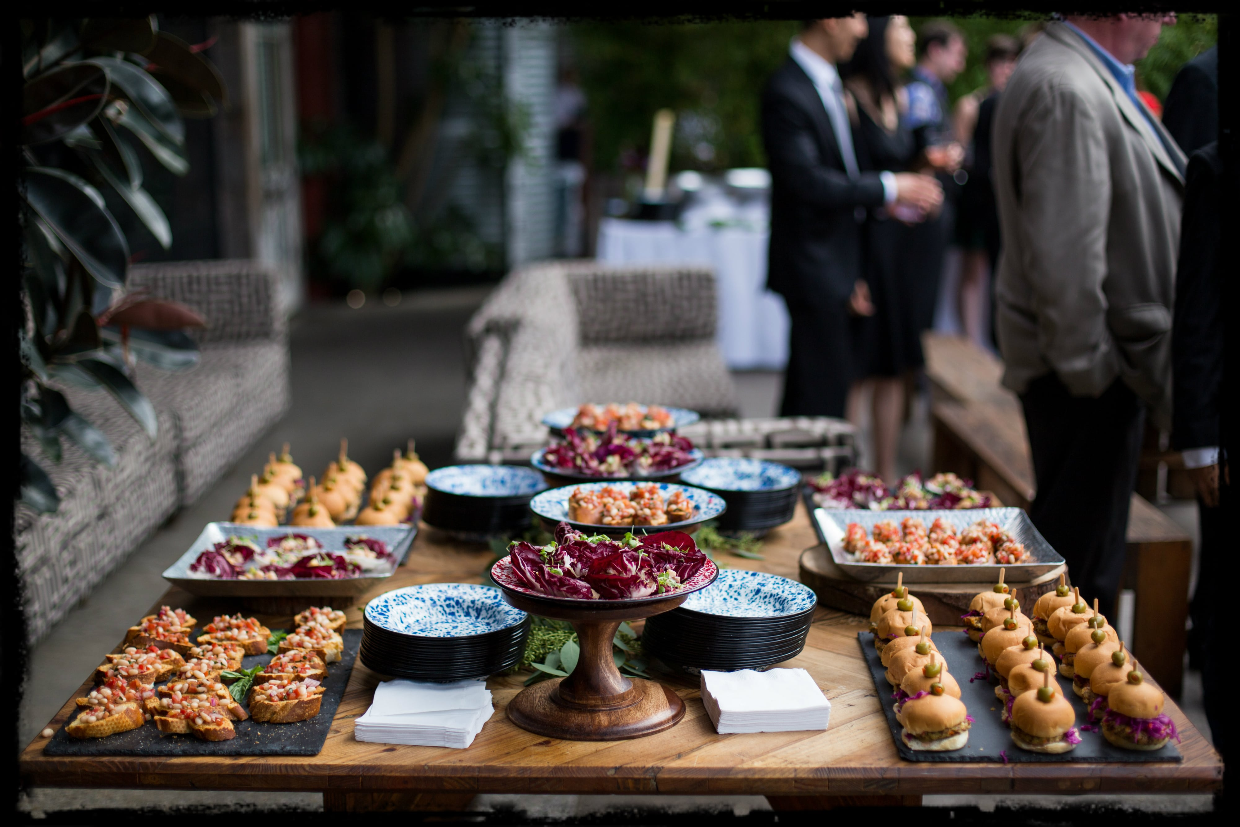 vegan wedding buffet table-min