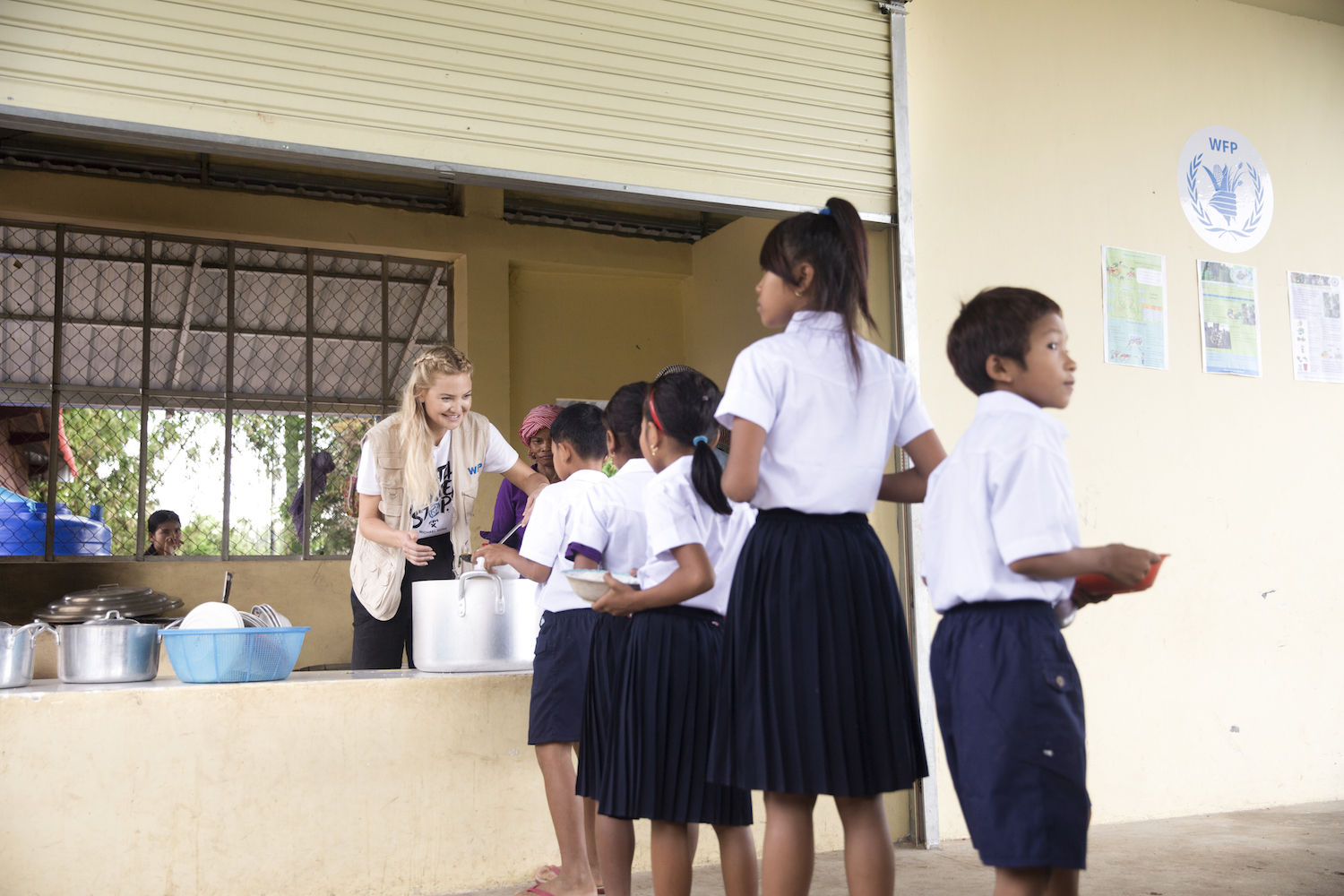 Kate Hudson's visit to schools in Cambodia as part of the Michael Kors 'Watch Hunger Stop' campaign Photographs by Tim Bishop/Quite Frankly Productions