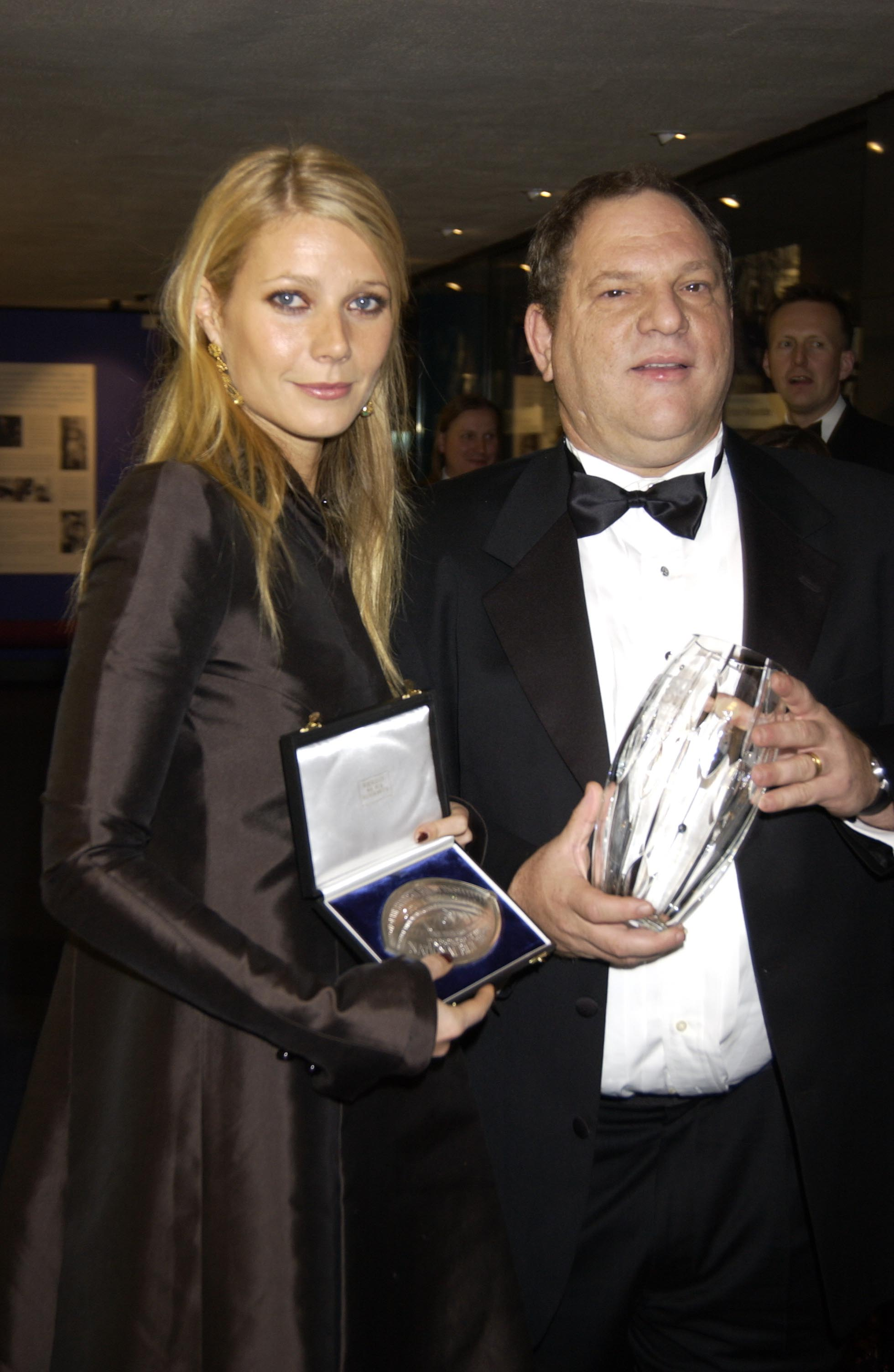 Gwyneth Paltrow and Harvey Weinstein