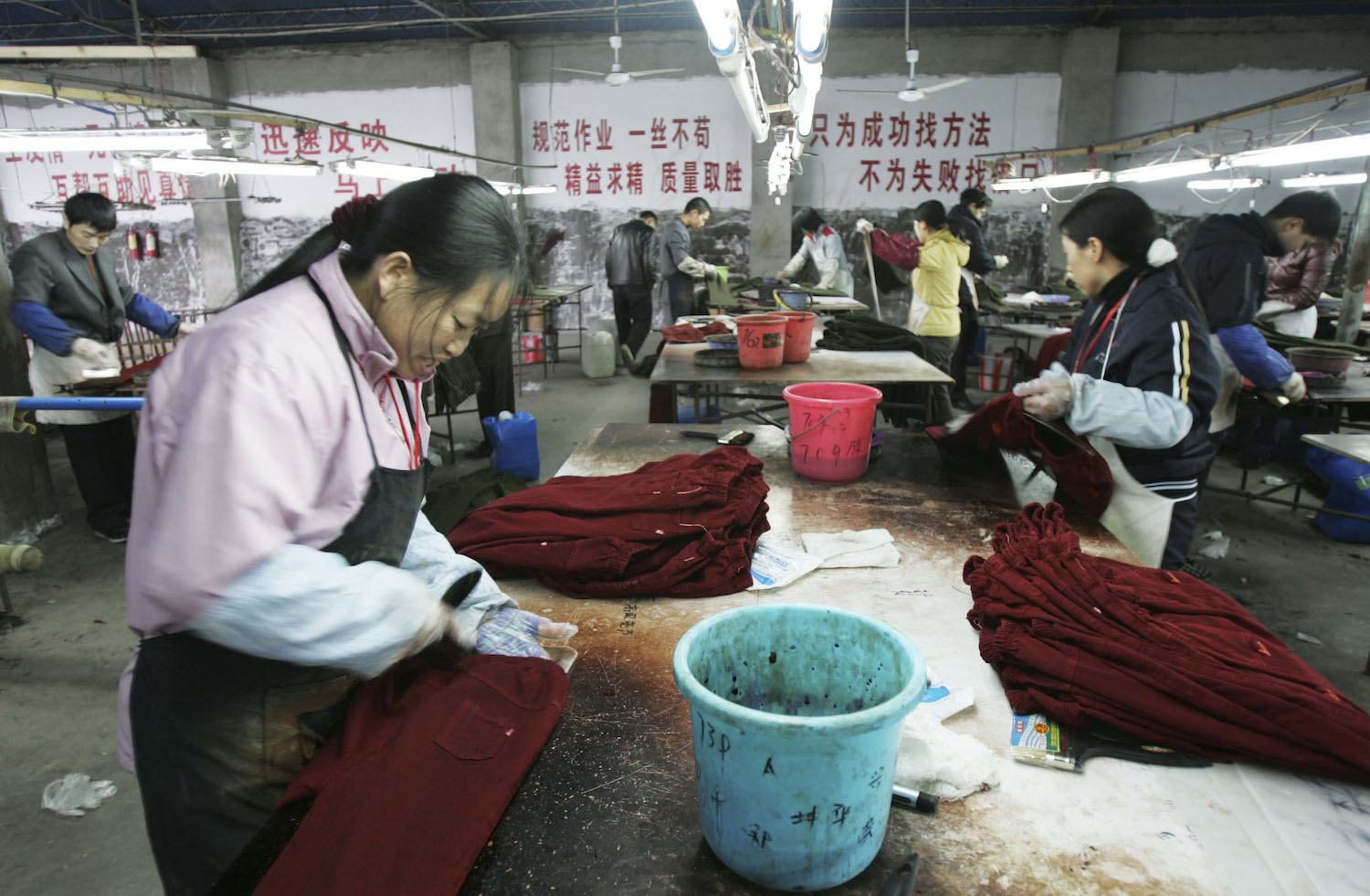 Waste Water Discharged By A Garments Factory In Chengdu