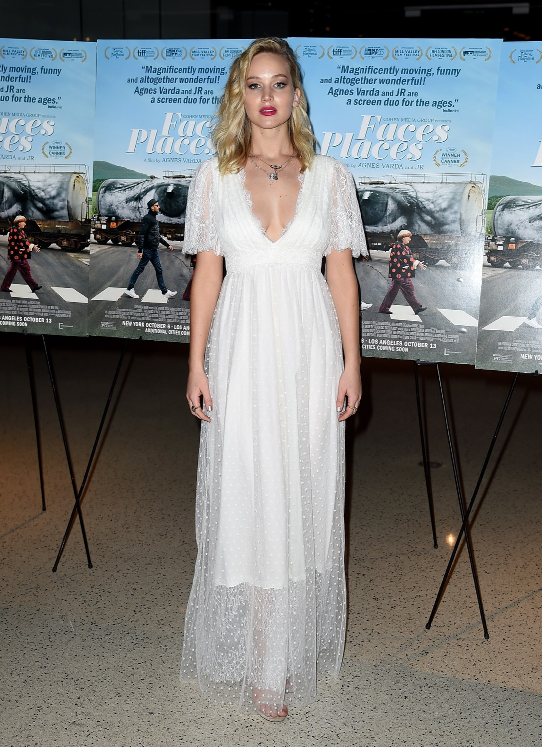 Jennifer Lawrence In L. Wells Bridal