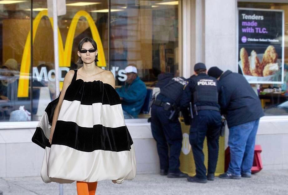 balenciaga mcdonalds fashion humor siduations