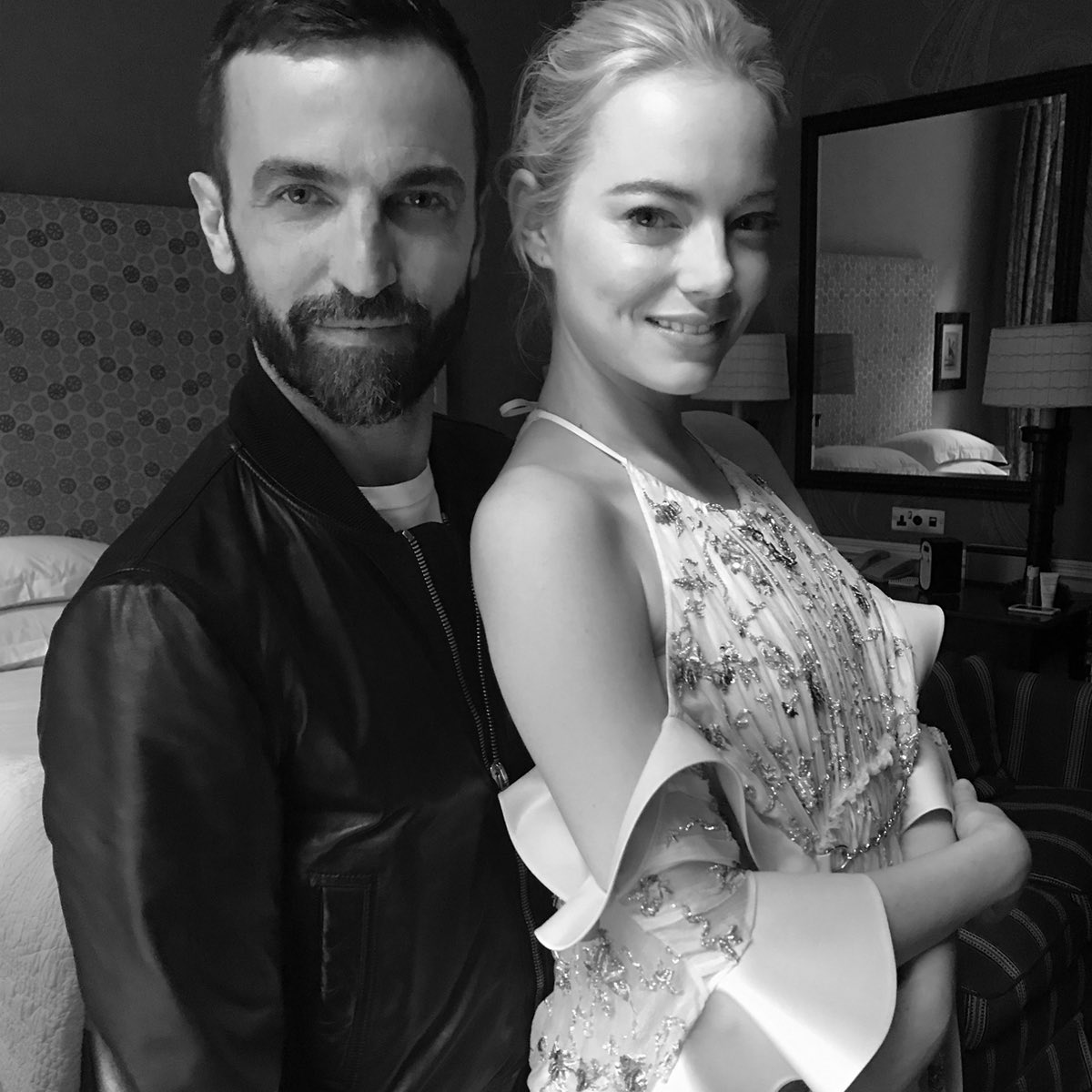 nicolas ghesquiere and emma stone louis vuitton