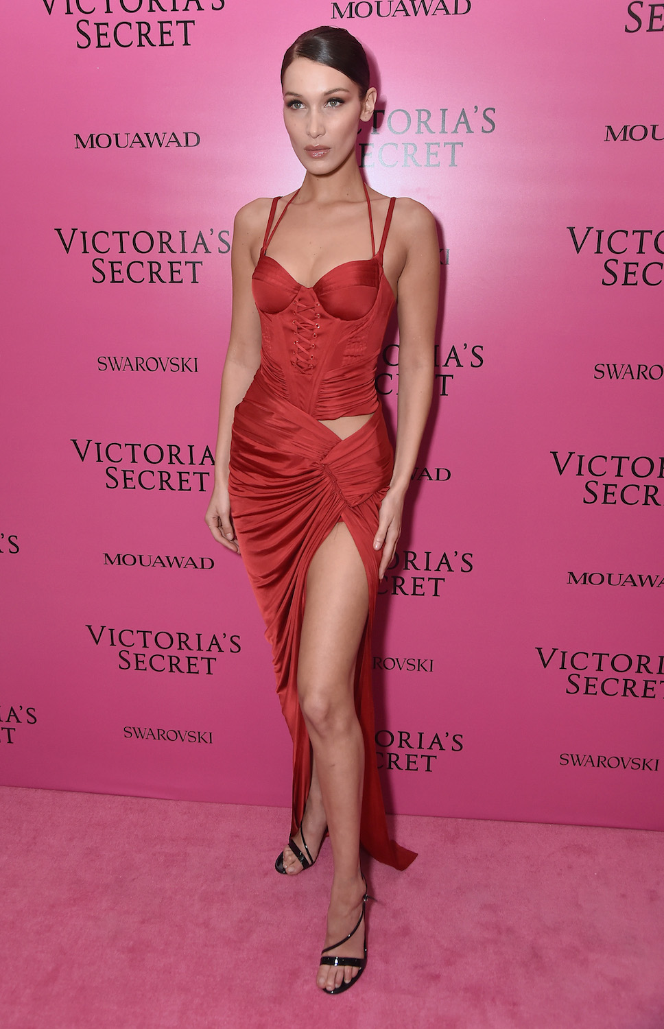 SHANGHAI, CHINA - NOVEMBER 20: Bella Hadid attends the 2017 Victoria's Secret Fashion Show In Shanghai After Party at Mercedes-Benz Arena on November 20, 2017 in Shanghai, China. (Photo by Theo Wargo/Getty Images for Victoria's Secret)
