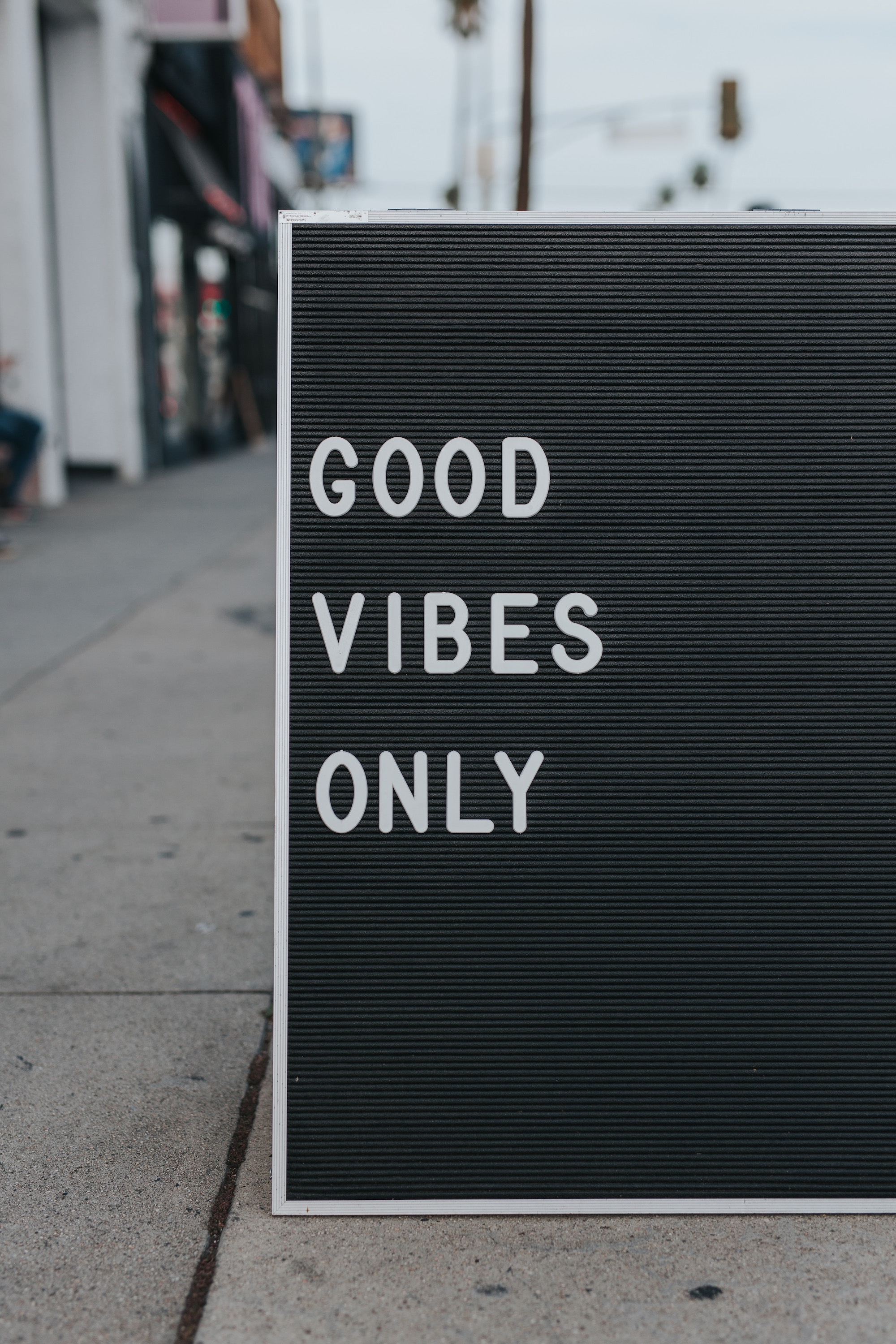 mark adriane Good Vibes sign