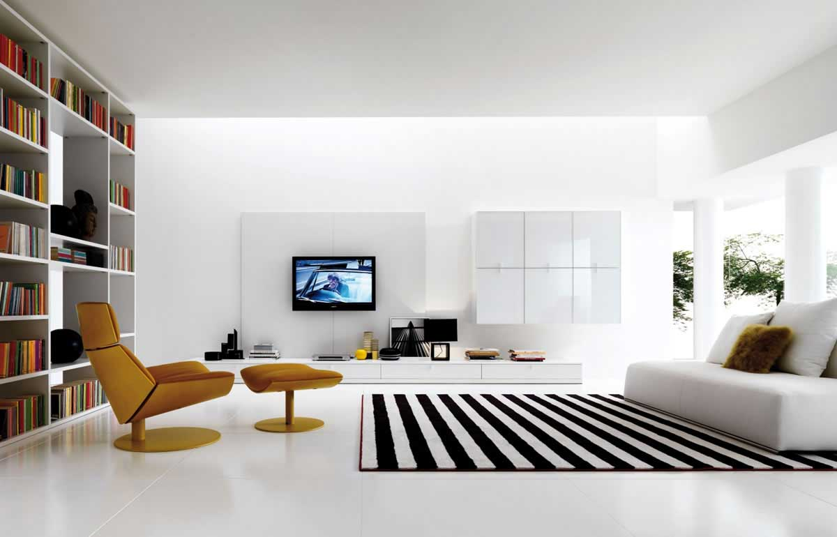 monochrome interior