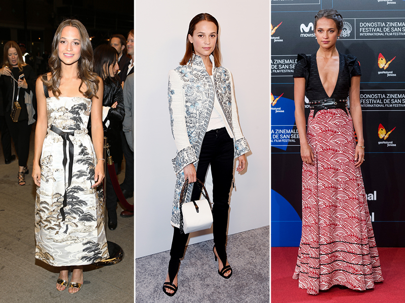 2017 Best Dressed Celebrities Alicia Vikander