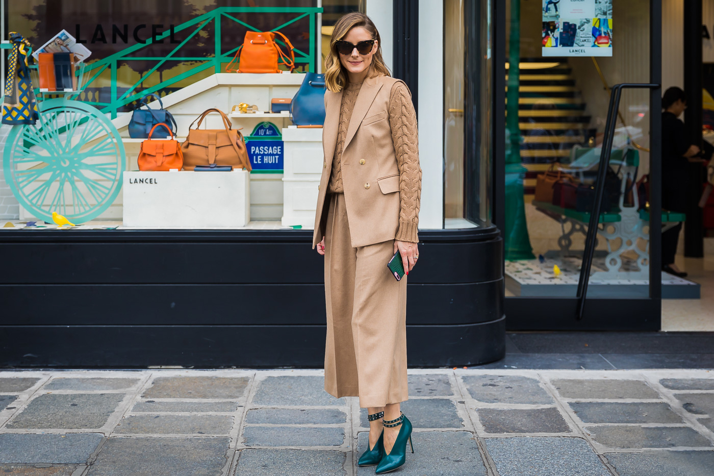 Olivia-Palermo How to wear a sweater for Work