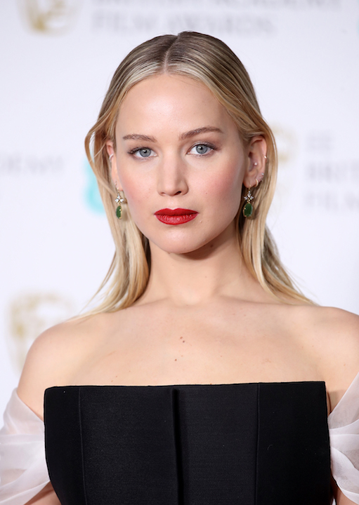 Jennifer Lawrence BAFTA 2018 beauty