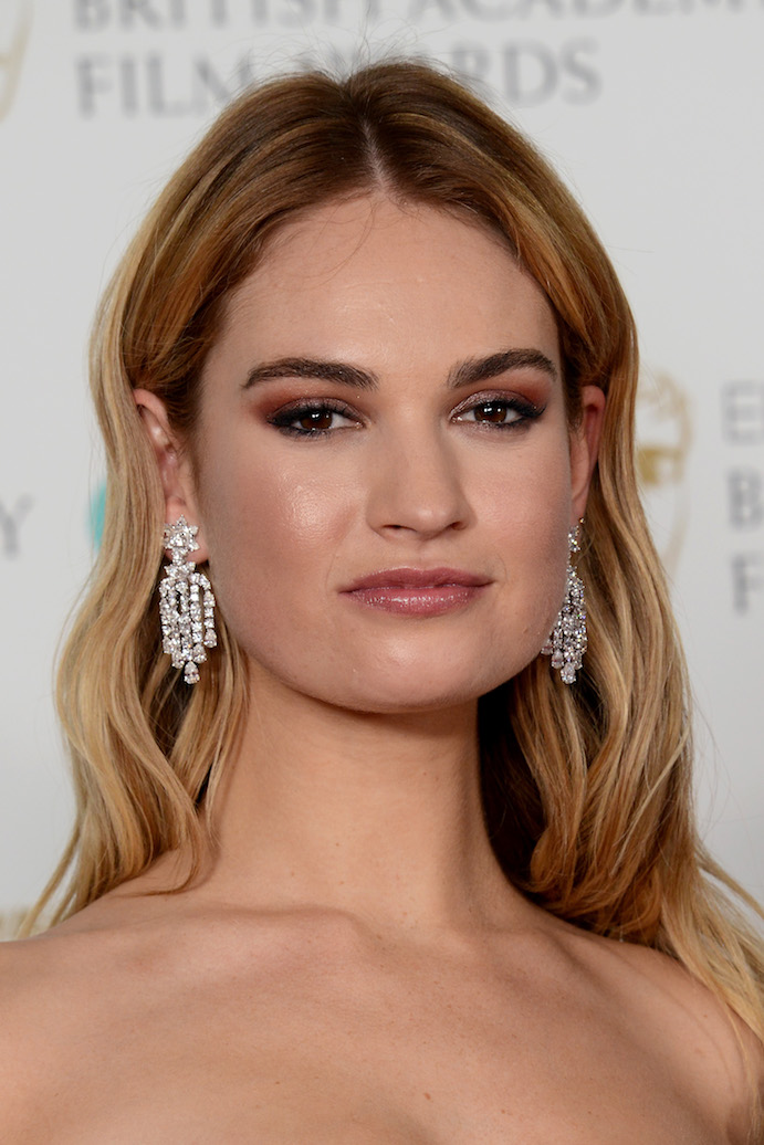 Lily James BAFTA 2018 beauty