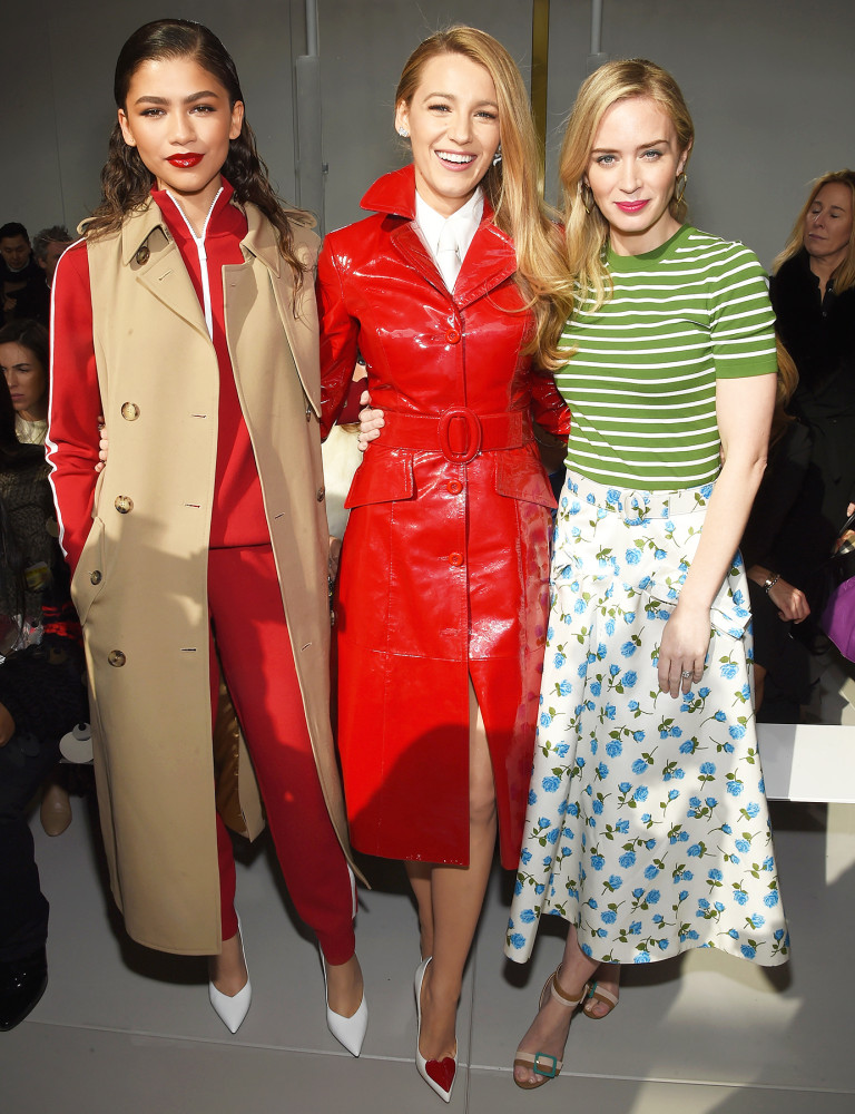 Zendaya Blake Lively and Emily Blunt at Michael Kors Fall Winter 2018 show