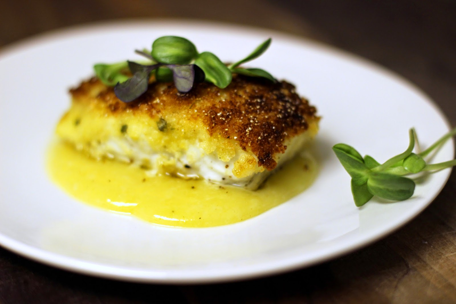 halibut dish with sauce