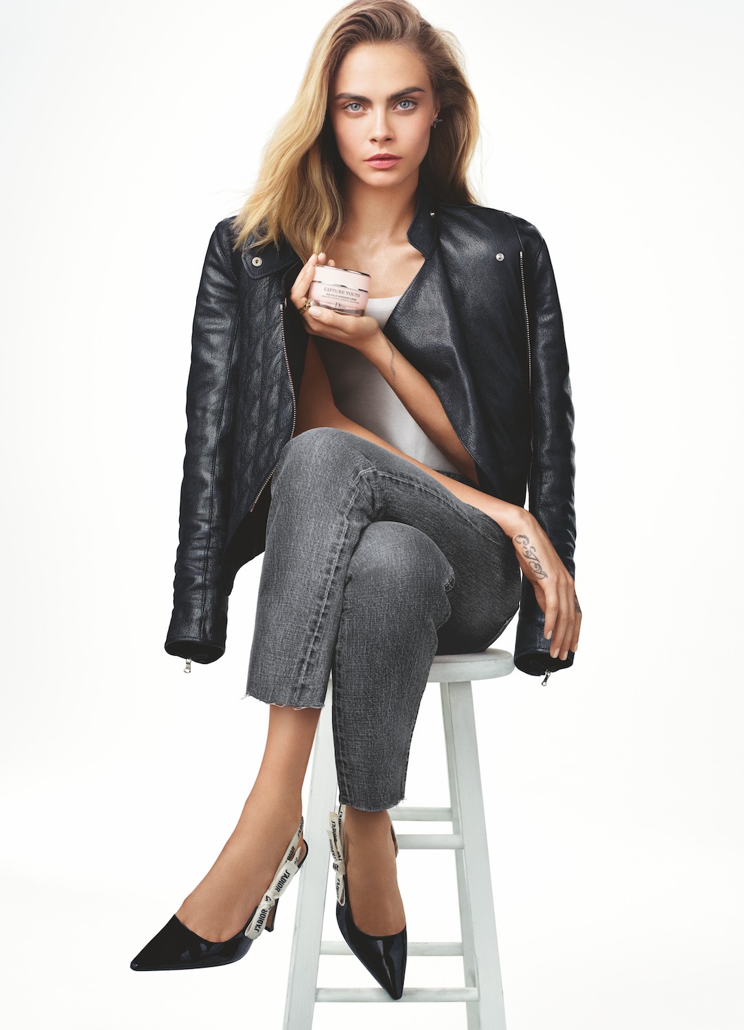 Cara Delevigne starring in Diors Capture Youth campaign
