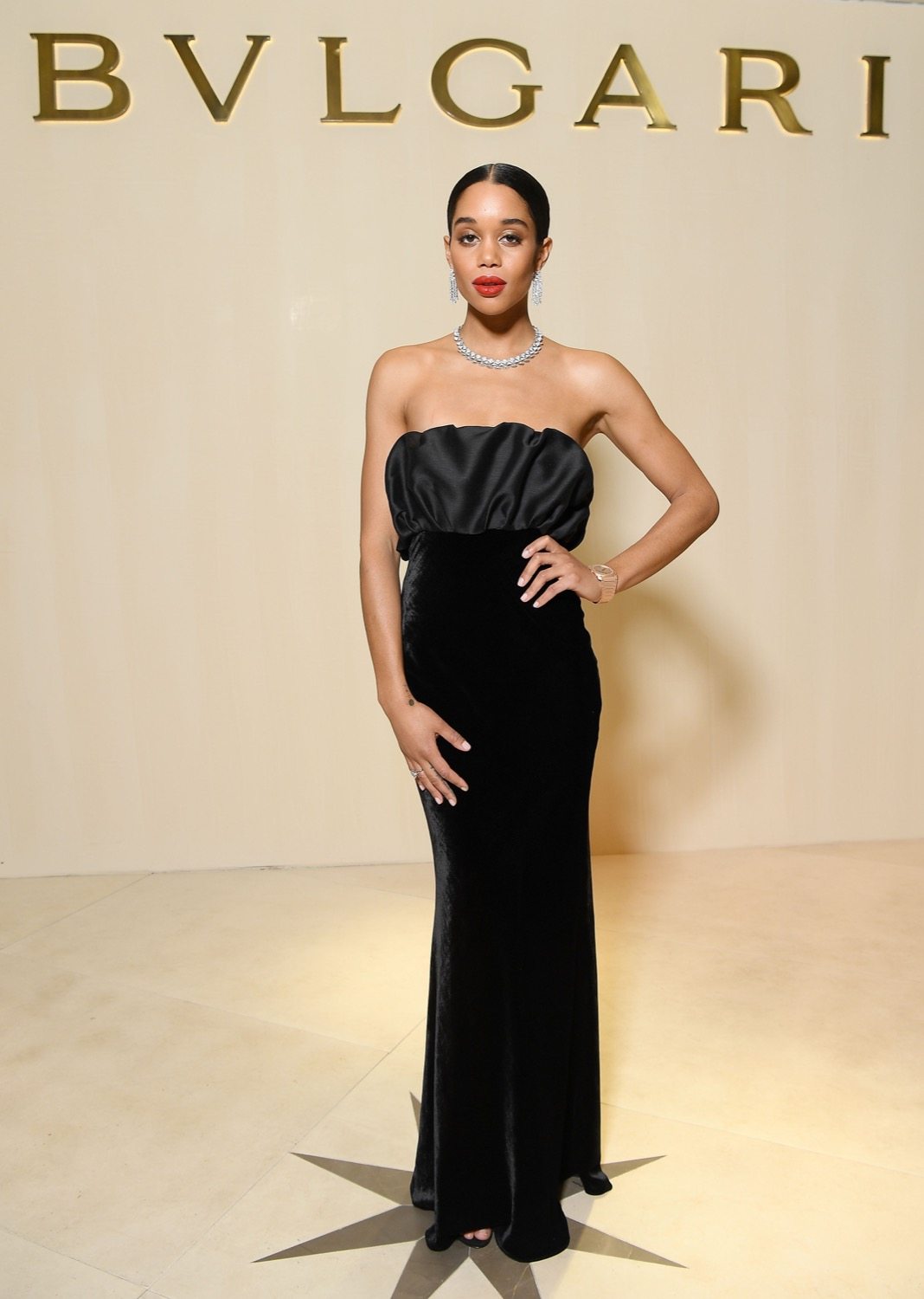 Laura Harrier in Brock Collection