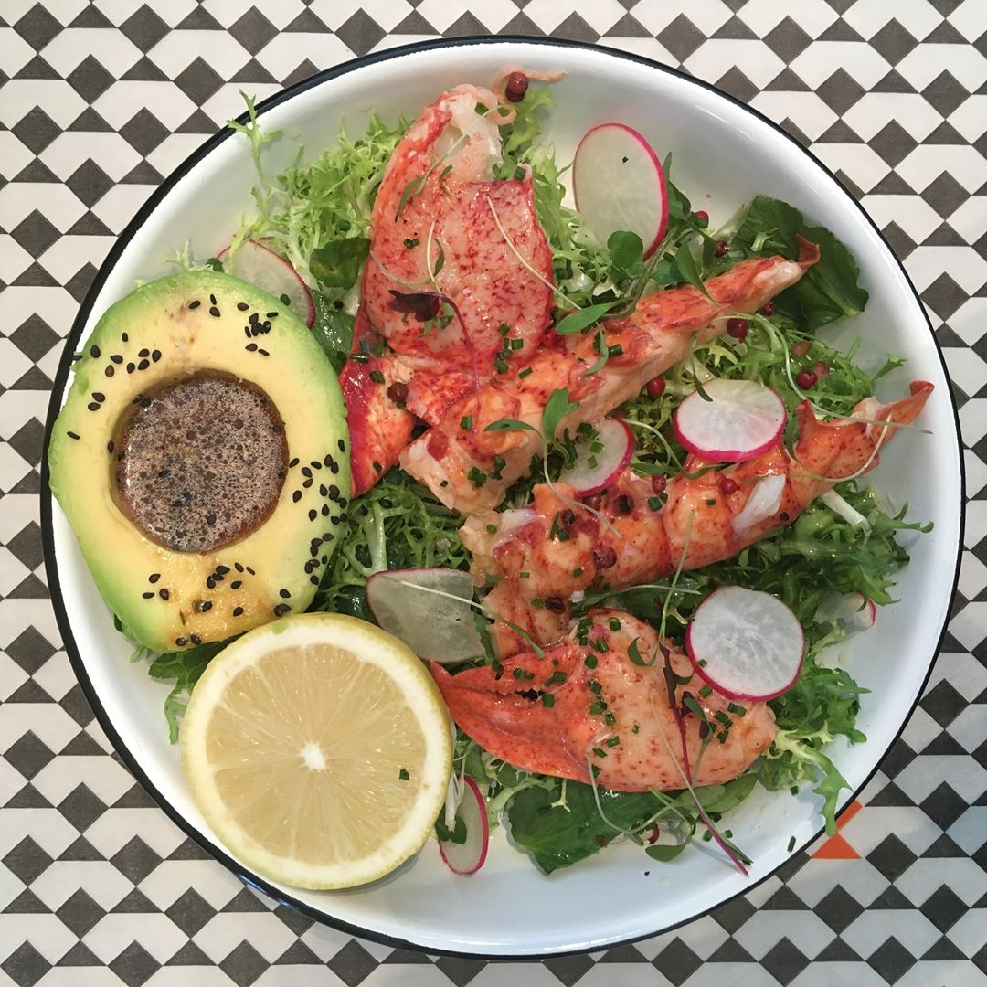 lobster avocado salad meat the fish beirut